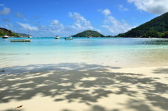 Tropical beach on Seychelles island Stock Photos