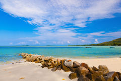 Tropical beach at Seychelles Stock Photos