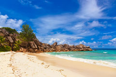 Tropical beach at Seychelles Stock Images