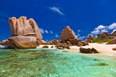 Tropical beach at Seychelles Royalty Free Stock Image