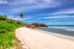 Tropical beach at Seychelles. Stock Photo