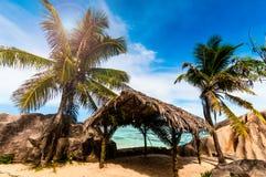 Tropical beach. The Seychelles Stock Photography