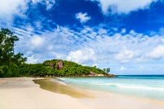 Tropical beach. The Seychelles Stock Image