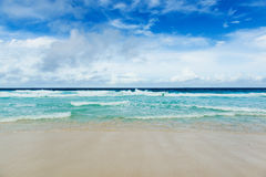 Tropical beach. The Seychelles Royalty Free Stock Images