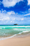 Tropical beach. The Seychelles Royalty Free Stock Photo