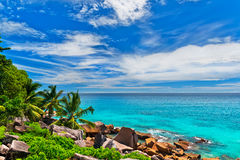 Tropical beach. The Seychelles. Photo of a tropical beach. The Seychelles Stock Photography