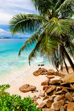 Tropical beach. The Seychelles. Photo of a tropical beach. The Seychelles Royalty Free Stock Photo