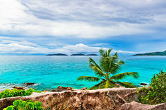 Tropical beach. The Seychelles Royalty Free Stock Image