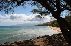 Tropical beach shoreline Stock Photo