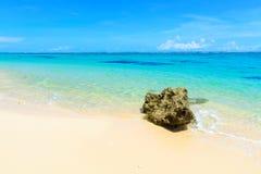 Tropical beach shoreline Royalty Free Stock Photo