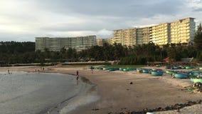Tropical beach in Sihanoukville, Cambodia stock video