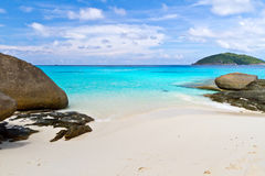 Tropical beach of Similan islands. Tropical scenery of Similan islands, Thailand Royalty Free Stock Image