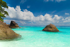 Tropical beach of Similan islands Royalty Free Stock Photos