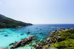 Tropical beach, Similan Islands, Andaman Sea, Thailand Royalty Free Stock Photography