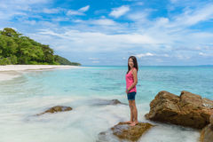 Tropical beach, Similan Islands, Tachai island, Andaman Sea,Thai Stock Image