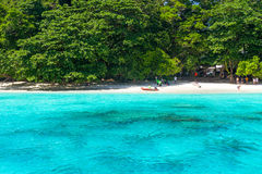 Tropical beach of Similan Islands in Thailand. Turquoise water of Andaman Sea at Similan islands, Thailand Stock Image