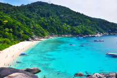 Tropical beach Similan Islands, Thailand. View of high mountain of islands / beautiful islands, Similan island, Thainland Stock Image