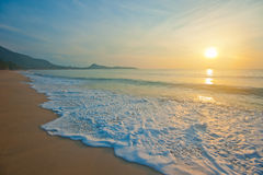 Tropical beach at sinrise Stock Image