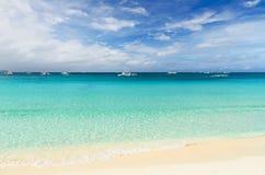 Tropical beach. Sky and sea Royalty Free Stock Photo