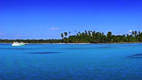 Tropical beach-some grain. A panorama of a tropical beach Stock Photography