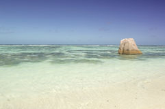 Tropical beach Source D'Argent at island La Digue, Seychelles - vacation background Stock Images