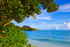 Tropical beach Source D'Argent at Seychelles Stock Image