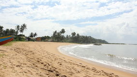 Tropical beach, Sri Lanka. Tropical beach in Sri Lanka stock video footage