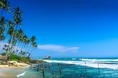 Tropical beach in Sri Lanka Royalty Free Stock Photo