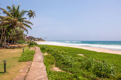 Tropical beach in Sri Lanka Stock Photos