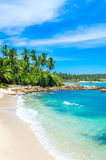 Tropical beach in Sri Lanka Royalty Free Stock Images