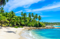Tropical beach in Sri Lanka Royalty Free Stock Photo