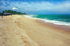 Tropical beach on Sri Lanka Stock Photos