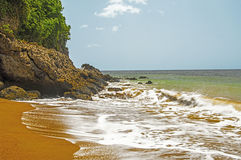 Tropical Beach-St. Lucia In Summer Royalty Free Stock Photo