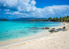 The Tropical Beach. Stock photo of tropical beach captured at US Virgin Islands Royalty Free Stock Photography