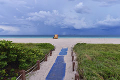 Tropical beach before the storm. Stock Photos