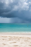 Tropical Beach in the storm Stock Image