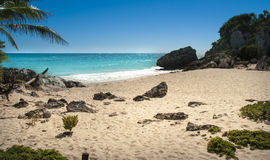 Tropical beach. Suitable for an idea of vacations, Caribbean or tropical summer time Stock Images