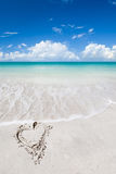 Tropical beach at summer sunny day. Tropical sandy beach at summer sunny day royalty free stock photography