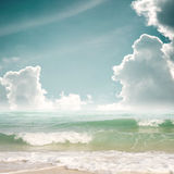 Tropical beach in summer Stock Photos