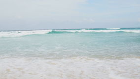 Tropical beach in sunny day stock video footage