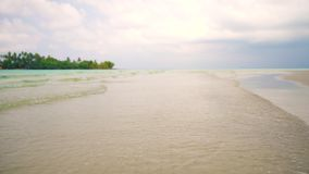 Tropical beach in sunny day on background tropical nature.  stock video footage