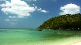 Tropical beach in sunny day on the island. Footage stock video