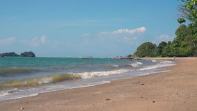 Tropical beach in sunny day. Langkawi iskand, Malaysia stock footage