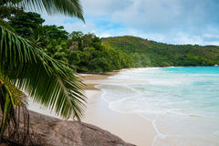 Tropical beach on the sunny day Royalty Free Stock Photo