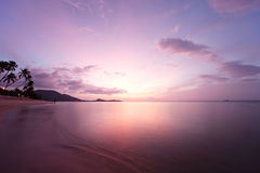 Tropical beach sunrise Royalty Free Stock Photos