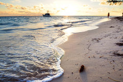 Tropical beach at sunrise Stock Photography