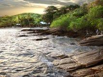 Tropical beach sunset Royalty Free Stock Photo