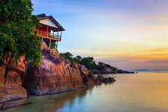 Tropical beach at sunset. Stock Image