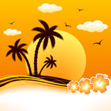 Tropical beach sunset Stock Images