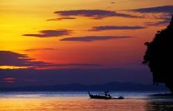 Tropical beach at sunset. Andaman Sea, Thailand Royalty Free Stock Photos